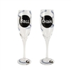 Ball and Chain - Champagne Flutes