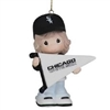 My Team's A Home Run - Girl White Sox Ornament