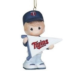 My Team's A Home Run - Boy Twins Ornament
