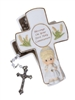 Blessings On Your First Holy Communion - Girl Covered Box with Rosary