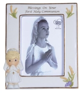 Blessings On Your First Holy Communion - Girl Frame