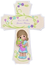 Love Is The Greatest Blessing - Cross with Easel