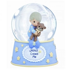 Jesus Loves Me Musical Water Globe - Boy