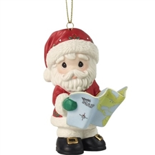 Joy To The Whole Wide World - 12th In Annual Santa Series Ornament