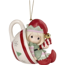Cheers To A Sweet Holiday- 5th In Annual Elf Series Ornament