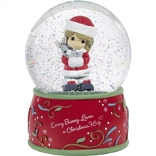 Every Bunny Loves A Christmas Hug - Dated 2020 Musical Snowglobe