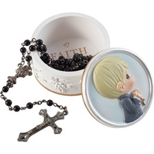 Rosary Box w/ Rosary - Boy