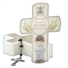 Communion Covered Box With Rosary - Boy
