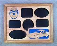 Oak Police Picture Frame