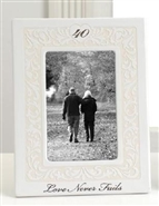 Love Never Fails 40th Anniversary Photo Frame