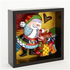 Rudolph And Santa Pop Art Block