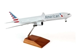SkyMarks Airplane Model - American Airlines B777-300 1/200 W/GEAR & Wood Stand