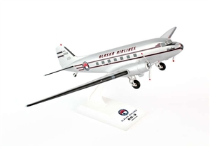 SkyMarks Airplane Model - Alaska Airlines DC-3 1/80