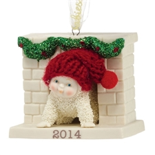 Sneaking Down The Chimney - Dated 2014 Ornament