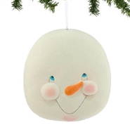 Eyes Open Snowman Head - Ornament