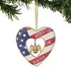 Patriotic Heart Ornament