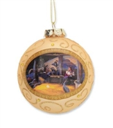Nativity Glass Ball Ornament