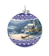 Sleigh Ride Glass Ball Ornament