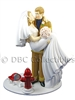 Firefighter Threshold Of Happiness - Wedding Cake topper