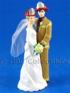 Mr And Mrs Firefighter Our Day Tan Gear - Wedding Cake topper