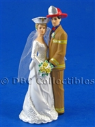 Nurse And Firefighter Our Day Tan Gear- Wedding Cake topper
