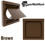 Metal Dryer Wall Vent Brown DWV4B