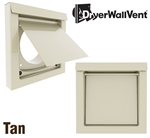 Metal Dryer Wall Vent Tan DWV4T
