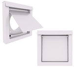 Metal Dryer Wall Vent White DWV4W