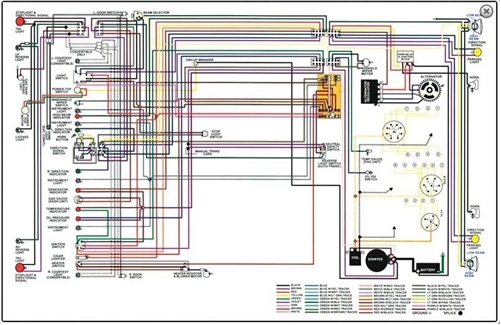 wire diagram 64 72 buick skylark rh yesterdaysmusclecars com 1995 Buick LeSabre Engine Diagram Buick Rendezvous Wiring-Diagram
