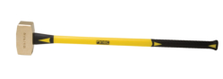 "10 lb. Brass Hammer with 33"""" Fiberglass Handle"