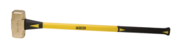 "12 lb. Brass Hammer with 33"""" Fiberglass Handle"