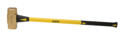 "14 lb. Brass Hammer with 33"""" Fiberglass Handle"