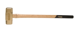 "20 lb. Brass Hammer with 32"""" Wood Handle"