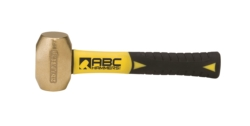 "2 lb. Brass Hammer with 8"""" Fiberglass Handle"