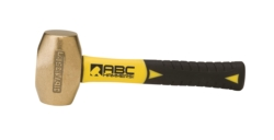 "3 lb. Brass Hammer with 8"""" Fiberglass Handle"
