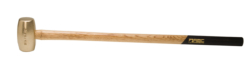 "8 lb. Brass Hammer with 32"""" Wood Handle"