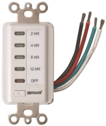 Woods 59014 Countdown In-Wall Electronic Timer