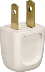 Academy 2601-6W-L Easy Install Non-Grounded Straight Electrical Plug