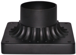 MOUNT LIGHT PIER 15IN MAT BLK