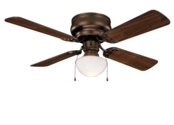 Boston Harbor CF-78125-ORB Hugger Low Profile Ceiling Fan