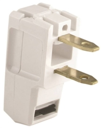 Academy Super Plug 2600-6W-L Non-Grounded Straight Electrical Plug