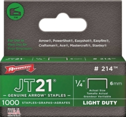 JT21 214 Flat Crown Staple