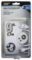 CORD EXTEN FOOT SWITCH WHT 9FT