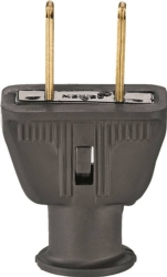 Cooper 183BK-BOX Non-Grounded Straight Electrical Plug