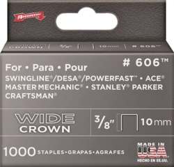 Arrow 606 600 Flat Wide Crown Staple