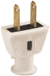 Cooper 183W-SP-L Non-Grounded Straight Electrical Plug