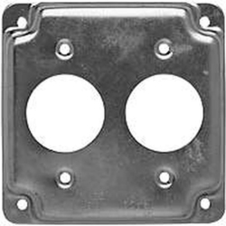 Raco 807C 2-Hole Raised Square Exposed Work Cover