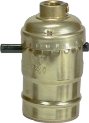 Cooper BP940ABD Push Thru Metal Lampholder