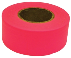 TAPE FLAG PINK 1-3/16INX150FT