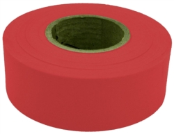 TAPE FLAG RED 1-3/16INX300FT